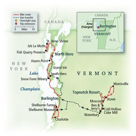Vermont: Champlain Islands, Burlington & Stowe 1
