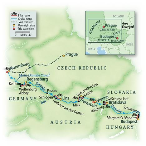 Danube Bike & River Cruise: Nuremberg to Budapest 1