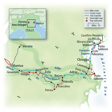 Italy Bike & Boat: Venice to Mantua
