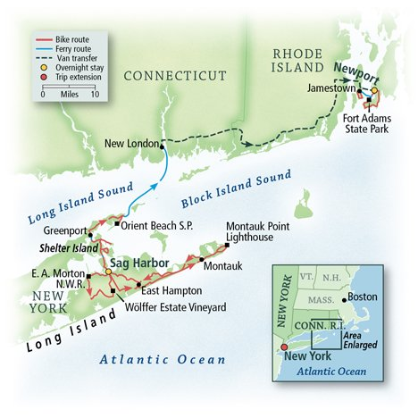 New York to Rhode Island: The Hamptons, Shelter Island & Newport 1