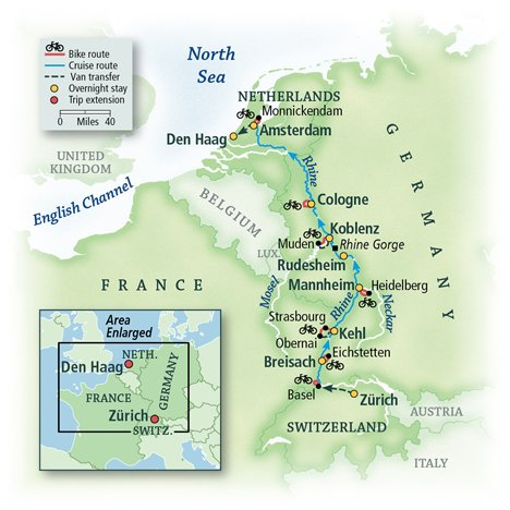 Rhine Bike & River Cruise: Basel to Amsterdam 4