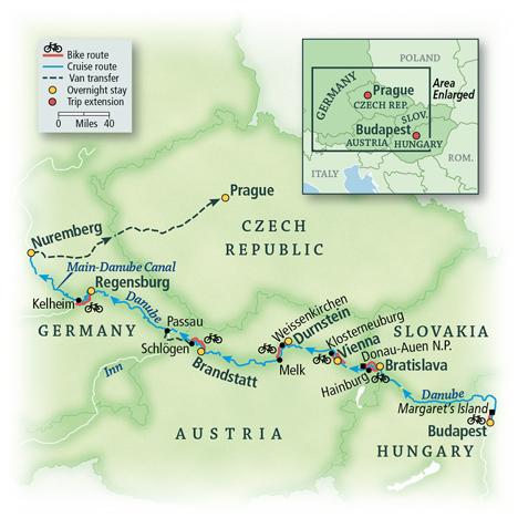 Danube Bike & River Cruise: Budapest to Nuremberg