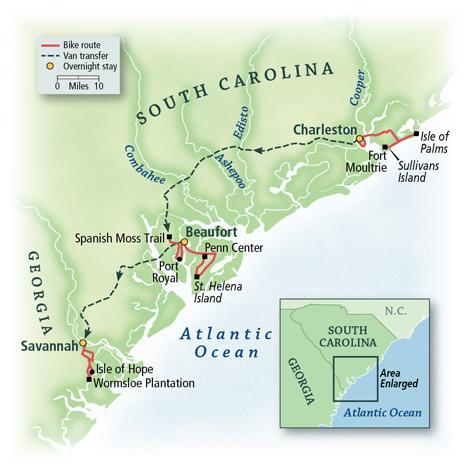 South Carolina & Georgia: Charleston to Savannah