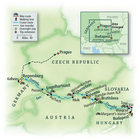Danube Bike & River Cruise: Budapest to Prague