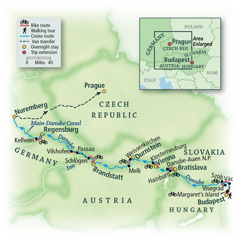 Danube Bike & River Cruise: Budapest to Nuremberg 1