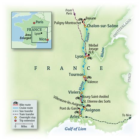 France Bike & River Cruise: Lyon to Nice 2