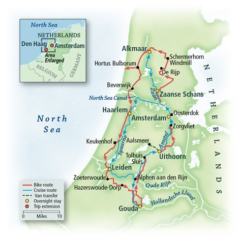 The Netherlands Bike & Boat: Springtime in Holland, Aboard the Lena Maria