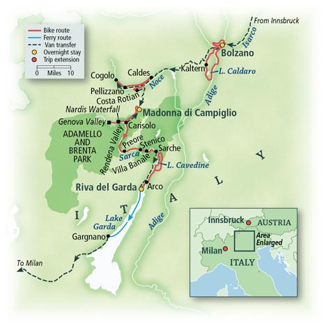 Italy: The Dolomites, Bolzano to Lake Garda