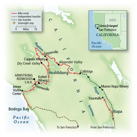 California: Napa, Dry Creek Valley & The Pacific Coast 6
