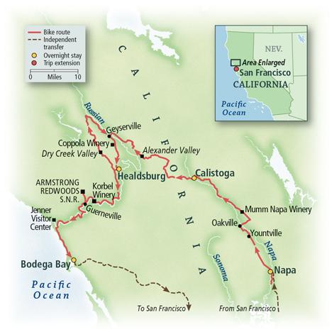 California: Napa, Dry Creek Valley & The Pacific Coast