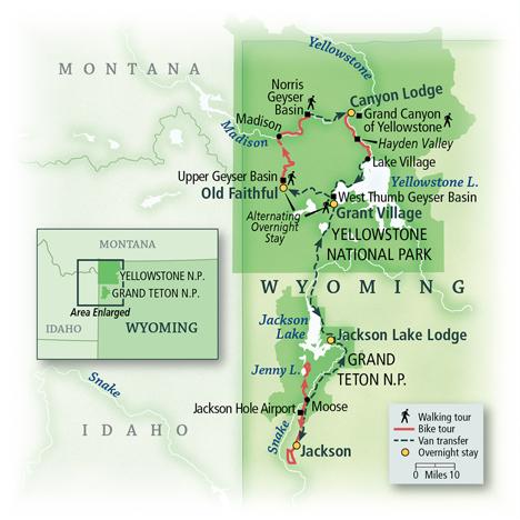 VBT Biking Tour Wyoming: Grand Teton & Yellowstone National Parks